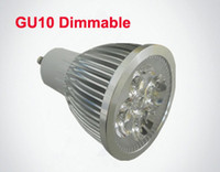 Wholesale 4W GU10 Dimmable LED Spotlights No x3W Real x1W GU E27 Spot Lights with leds Bulbs Spotlight Downlight years warranty V