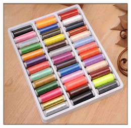 Wholesale 39 Rolls Mixed Polyester Spools Sewing Thread Reel Hand Sew Machine Craft DIY Tool
