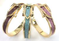 achat en gros de ceintures plaqué or-Livraison gratuite en or plaqué paillettes poudre réglable ceinture boucle bracelet bracelet femmes bracelet robe de manchette