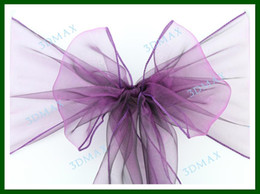 Wholesale 23 Color Hot sale Wedding Organza Chair Cover Sashes Bow Promotions By HongKong Post Air for