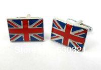 Wholesale Designer Copper UK Flag Design Cufflinks For Men