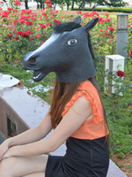 Wholesale Hot Sale Costume Accessories Black Horse Print Latex Unisex Chic Halloween Mask underwear u13 lFk