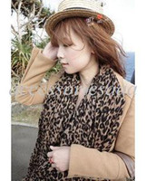 Wholesale Autumn and winter Hot cashmere leopard print scarf shawl long leopard scarf