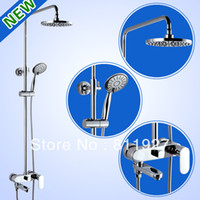 Wholesale sanitary ware bathroom accessories good quality fashion style liftable rainfall shower mixer set with low price