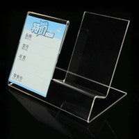 Mobile phone Brackets acrylic sign rack - Mobile cell phone display stand Clear Acrylic Mobile Phone Holder rack can be put sign lable tag