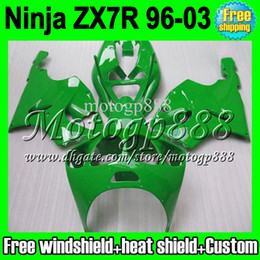 2gifts Fairing For KAWASAKI green NINJA ZX7R 96-03 1996 1997 1998 2003 ZX 7R ZX-7R MP1254 new gloss green 96 97 98 99 00 01 02 03 bodywork