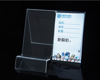 Wholesale New style fashion clear Acrylic Mobile cell Phone display stand Holder racks