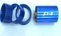 Wholesale 5Sets a F1 Z Supercharger Turbo MM to MM Air Intake Fuel Saver Fan w Double Propeller Blue high quality