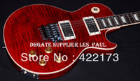 Wholesale Custom Alex Lifeson LP Axcess Royal Crimson Signed Electric Guitar With Floyd Rose tremolo