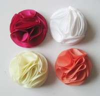 Wholesale mix color Chiffon Flowers DIY Fabric Flower Baby Headband Girl s Hair Accessories Handmade Flower FFCD11010