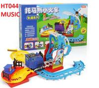 Precio de Trains-A-1set Tren eléctrico de dibujos animados Thomas Train Turn Shift la locomotora Juguetes para niños Chicos Chicas con iluminación de sonido Lovely Educational Safe