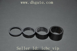 Wholesale 1 set full carbon fiber Bike Bicycle Cycling Headset Stem washer Spacer