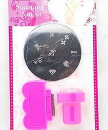 Wholesale DIY Nail Art Stamping Set Stamping Nail Art Kit Nail Stamps Plastic Scrapers Mental Plate