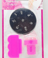 Nail Art Mental Plate Kit No  DIY Design Kit Professional Nail Art Stamp Stamping Polish Nail Decoration Stamping Nail Art Kit Nail Stamps + Plastic Scrapers+Mental Plate