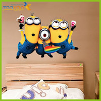 Wholesale 2013 New Design Despicable Me Minion Movie Decal Removable Wall Sticker cartoon Home Decor Art of Kids Nursery