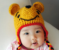 Wholesale 2013 New Baby crochet hats children handmade animal pattern caps kids knitted pumpkin beanie toddler owl hat photography props