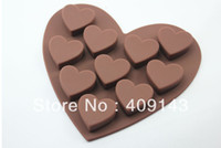 Wholesale D Heart fondant silicone mold chocolate soap mold cupcake molds puff mold surface Smooth And Evasive