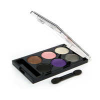 Wholesale Women s Cosmetic color Mini Travel Kit Eyeshadow Makeup Palette with Make up Mirror Makeup Brush
