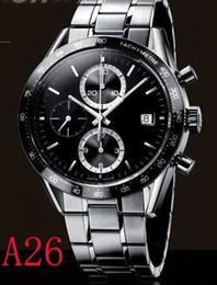 Wholesale brand new With black Leather Original Box Manual Luxury Fashion Wristwatche men watch sports Automatic Stainless Men s Watches