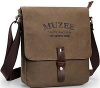 alloy density - fashion casual canvas bag Washed high density men shoulder bag Messenger bag