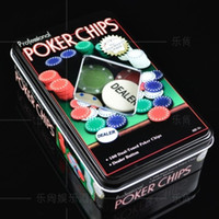 Wholesale Chip set tin belt table cloth poker chips baccarat