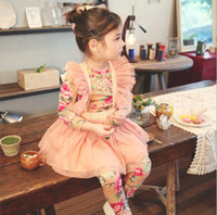 Princess Flouncing Tiered Yarn Lace Suspender Skirt Kids Clo...