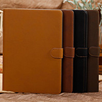 Business style Retro PU Leather Case for ipad5 air with stan...