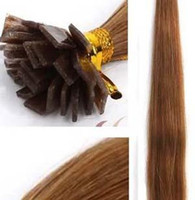 Cheap Brazilian remy human hair flat-tip extension,by imported italian glue,all colors and lengths are availlable,No shedding and tangling