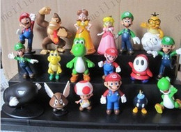 Wholesale Super Mario Bros quot quot set PVC Super Mario Toy Figurine Bros yoshi Figure dinosaur Figure cos style Set MYY6998