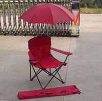 Camping Chairs Red Backpacking Beach chair with umbrella holiday leisure necessary and relaxed Convenient and comfortable