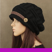 Wholesale Hot Sale New in Winter Korean Designer Gorro Lady s Caps Acrylic Warm Novelty Woman s Headwear Nice Hat for Female O6E