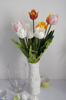artificial teeth - Express CM PU Latex Tulip Flowers With Teeth DIY Real Touch Tulips Artificial Flowers Wedding House Decor YR