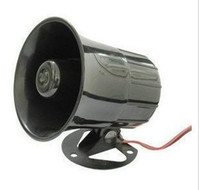Wholesale Universal Auto Car Security Alarm Siren Horn Electronic Wired Siren Horn Loudspeaker in retail package