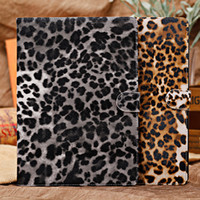 Sexy Leopard Leather Case with stand holder for ipad 5 air, F...