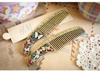 Wholesale Vintage Combs palace garden butterfly dragonfly stenciling short comb comb hair accessories women lady Bumpits cheap combs