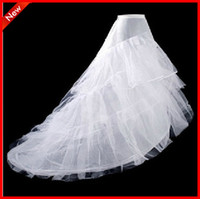 100% Cotton Cathedral Train Full Gown Slip In Stock Hot Selling Cheap White wedding accessory discount wedding petticoats mermaid wedding dresses train 3 hoop petticoat