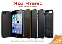 Wholesale Bumblebee SPIGEN SGP New Neo Hybrid EX Series Bumper Frame Case Cover For iPhone g s mix color With Retail box phone case SEB B