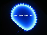 80001 12V  Blue LED PVC 2 x 24cm Blue LED Light Flexible strip 24bulb EX car trim 12v