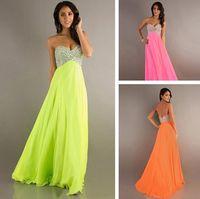 Wholesale Sequins Sale Sweetheart Sleeveless A Line Floor Length Chiffon Orange Bridesmaids Prom Customized Bridesmaid Dresses Cheap