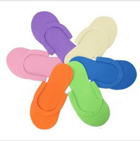 Wholesale DHLNew Arrival EVA Foam Salon Spa Disposable Pedicure thong Slippers skid resistance