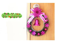 Wholesale 2013 New Arrival PVC Christmas decorative flowers Christmas wreath Christmas Home Decoration Christmas Door Hangings Christmas Presents