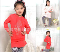 Wholesale Girls minnie mouse set girls Rhinestone striped hoodies suits piece set hoodies skirt pant leisure suit children s hoodies Christams sets