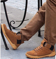 Wholesale New arrival hot sale male popular tide lace up hip hop skateboard thick wool elastic Martin cowboy business casual boots EU39