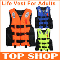 Wholesale Adult Life Jackets Vest Color L XL Adjustable Fluorescent D polyester Motor boa Boating Surfing Sailing Windsurfing Fishing Life Jackets