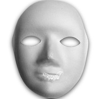 paper face mask - White Half face Paper Mask V Face Shape Paper Mask for Halloween Parties g