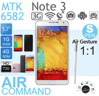 Wholesale USB Note3 N9006 unlock Note Quad Core with MTK6582 android4 phone inch IPS Screen GHz MPx camera drop ship DHL