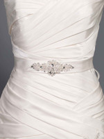 Wholesale Cheap Western Design Crystal Shine Beaded Hand Made Wedding Dresses Belt Wedding Dress Sash