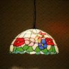 Tiffany glass chandeliers dragonfly flower European-style garden restaurant chandelier DIA 40CM H 100 CM