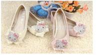 diamante shoes - 2013 New Fashion Diamante Flower Cat Bowknot Lace Princess Girls Sandles Baby Girls Shoes C0284