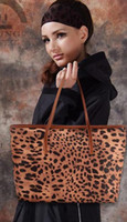 Wholesale Women Genuine Leather Handbags Sexy Leopard Animal Printing Messager cowhide Shoulder Bags Xmas New Year Items BEST PRICE Free Fedex